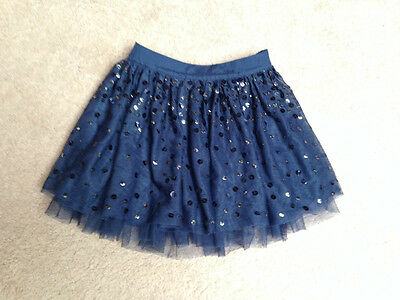 Girls Next Navy Blue Sequinned Party Skirt Age 7 years *BNWOT*