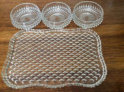 Glass Bowl And Tray