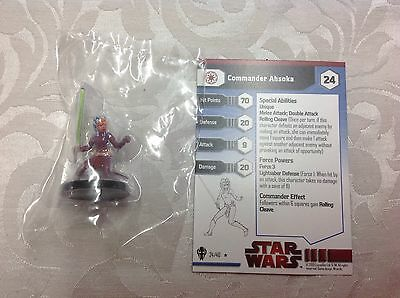 Star Wars commander Ahsoka #24/40 new in bag with stat card
