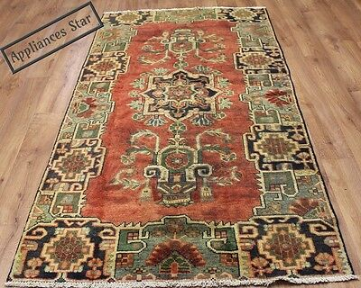 Old Wool Hand Made Persian Oriental Floral Runner Area Rug Carpet 217X1117 Cm