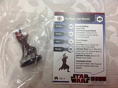 Star Wars plo Koon Jedi master #9/40 new in bag with stat card