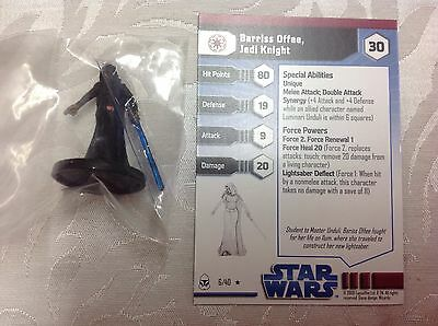 Star Wars Barriss Offee Jedi Knight #6/40 new in bag with stat card