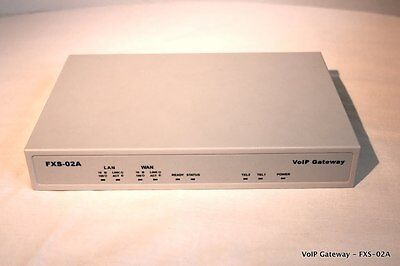 FXS-02A 2-Port FXS Voice over IP Gateway (VOIP-ANALOG)