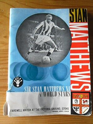 Sir Stan Matthews Farewell Match Program 1965