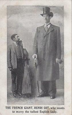 The French Giant, Henri Cot, Early Postcard      F21
