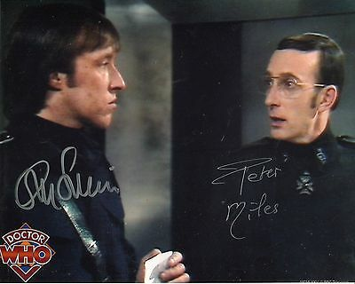 DOCTOR WHO 8x10 photo signed by Peter Miles & Richard Franklin