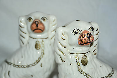 Pair of Vintage, Antique Staffordshire Pottery Dogs