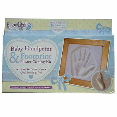 Baby Handprint And Footprint Plaster Cast Mould With Frame-Hand Foot Print /gift