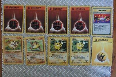 Pokemon Card Lot - Mankey and pikachu (10 Cards - rare super energy removal)