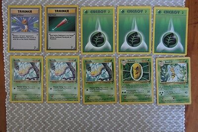Pokemon Card Lot - Weedle to Beedrill (10 Cards - Base Set 2)