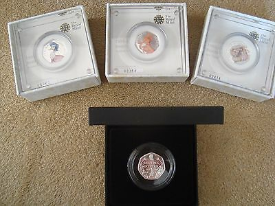 Beatrix Potter 2016 colour Silver Proof 50p collection - 150th Anniversary