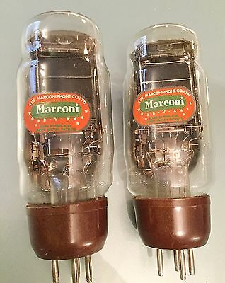 Matched Pair Marconi PX4 Valve Tubes for Dynatron, RGD, Lowther EMG Amplifier