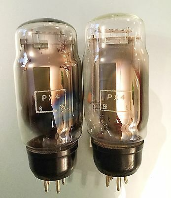Pair of Marconi PX4 Valve Tubes for Dynatron, RGD, Lowther EMG Amplifier