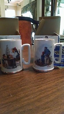 Norman Rockwell Seafarers Collection Mugs set of 2