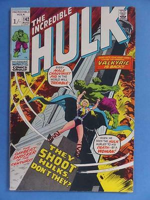 Incredible Hulk 142 1971 Classic Valkyrie They Shoot Hulk's Don't They!