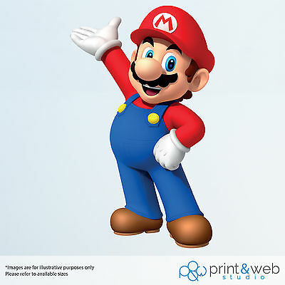 Super Mario Wall Decal Sticker Bedroom Vinyl Kids Mario