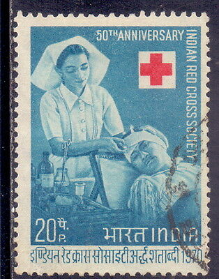 India Stamp  50th Anniversary of Indian Red Cross 1970.