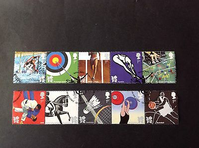 Gb Qe2 2009 Olympic And Paralympic Games Full Set Very Fine Used As Scan