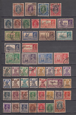 British India King George VI Collection of 50 Stamps values to Rs 10/-