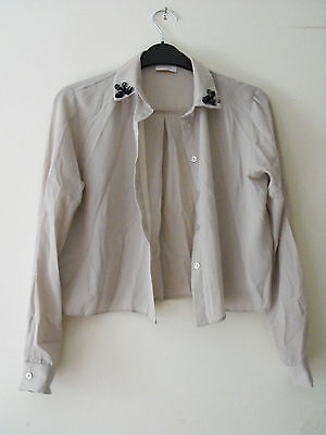 Girls Beige Blouse from Kylie Age 11 Years