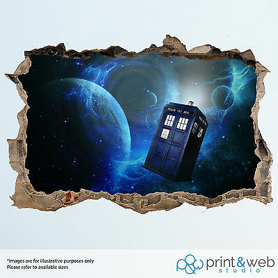 Dr Who Wall Smash Decal Sticker Bedroom Vinyl Kids Mural Art
