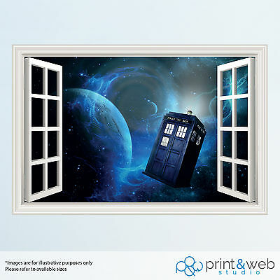 Dr Who 3D Window View Decal Wall Sticker Home Decor Art Mural Kids
