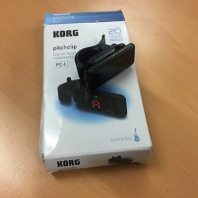 Korg PITCHCLIP Clip-On Chromatic Tuner for Guitar and Bass