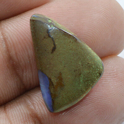 7.05 Cts 100% NATURAL FIERY BOULDER OPAL FANCY SHAPE CABOCHON LOOSE GEMSTONE