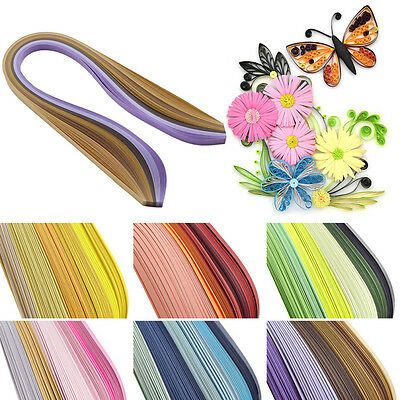 120 Stripe Quilling Paper 10mm Width Gradient Color Origami Paper DIY Hand Craft