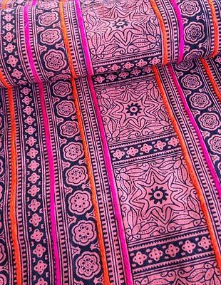 Vintage Style Hmong Batik Red Textile Tribal Fabric Craft Supplies 4-5 yards
