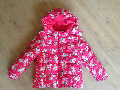 Girls Cath Kids (London) Red Floral Print Lightly Padded Coat Age 5-6 Years