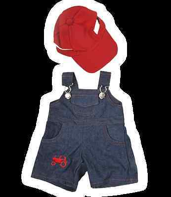 """Farmer Outfit 16""""(40cm ) by Teddy Mountain will fit Build a Bear"""