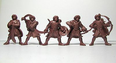 Mongols 5 figures no packing HARD 54 mm 1:32 Russian toy soldiers Tehnolog