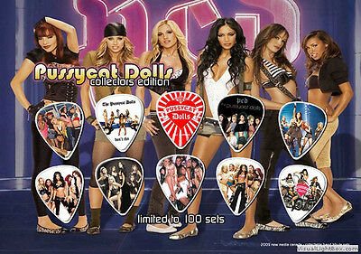Pussycat Dolls guitar picks on photo display LIMITED