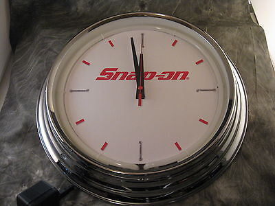"Snap On Tools Wrench Chrome 16"" Neon Wall Clock"