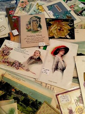 ⭐️ Antique~Lot Of 70+ Assorted Postcards 1906-1922 W/sleeves ⭐️