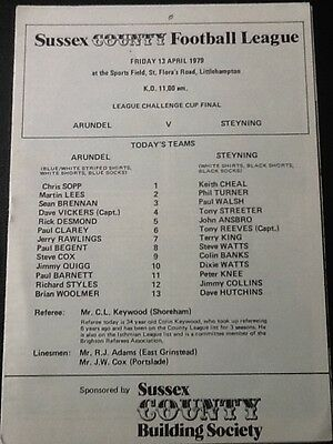 1979 ARUNDEL v STEYNING - Sussex Country League Challenge Cup Final