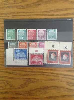 Collection Of German Mint Stamps