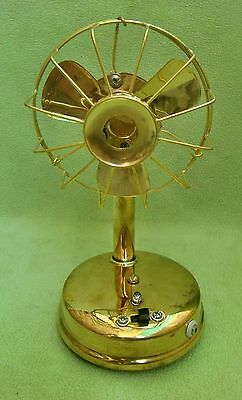 Vintage Excellent Brass  Fan (Brass Blade), Battery A+ Collectible