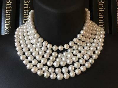 Incredible 8Ft Long Freshwater Pearl Necklace 14Ct White Gold Clasp - 245