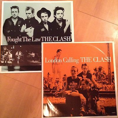 """The Clash London Calling & I Fought the Law 1988 12"""" Vinyl Reissues CBS"""