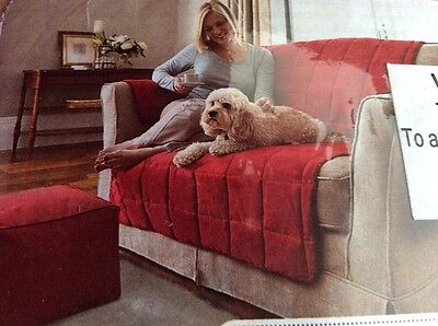 2 new quilted furniture pet protectors for sofa and chair