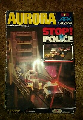Aurora Stop Police race track (scalextric type race track )