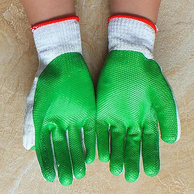 12 Pairs Rubber Safety Work Gloves Builders Grip Protect Welding Industry