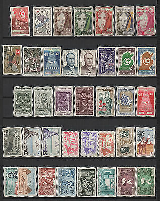 années 50 TUNISIE 38 timbres neuf /T519