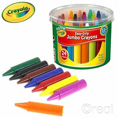 New My First Crayola Easy-Grip Jumbo Crayons Tub 24 Pack Official