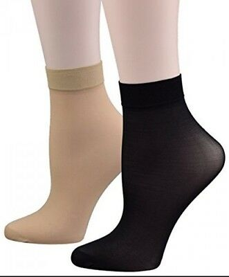 New 10 x PAIRS LADIES ANKLE HIGH TROUSER POP SOCKS UK SIZE 4-7 IN 4 COLOURS