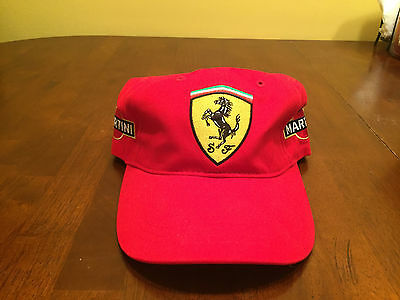 Brand New Martini Racing Ferrari Adjustable Hat