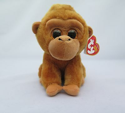 """New Ty Beanie Babies Monroe The Monkey 6"""" With Tags"""