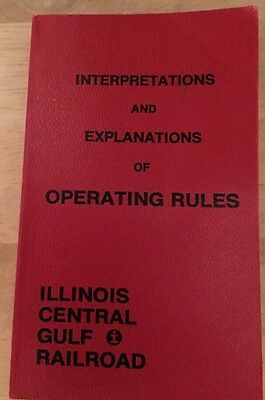 Illinois Central Gulf Railroad Interpretation And Explanations Of Operating Rule